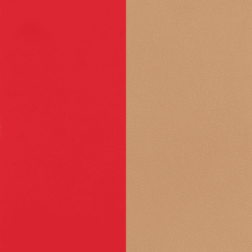 Leather insert Soft Red / Beige