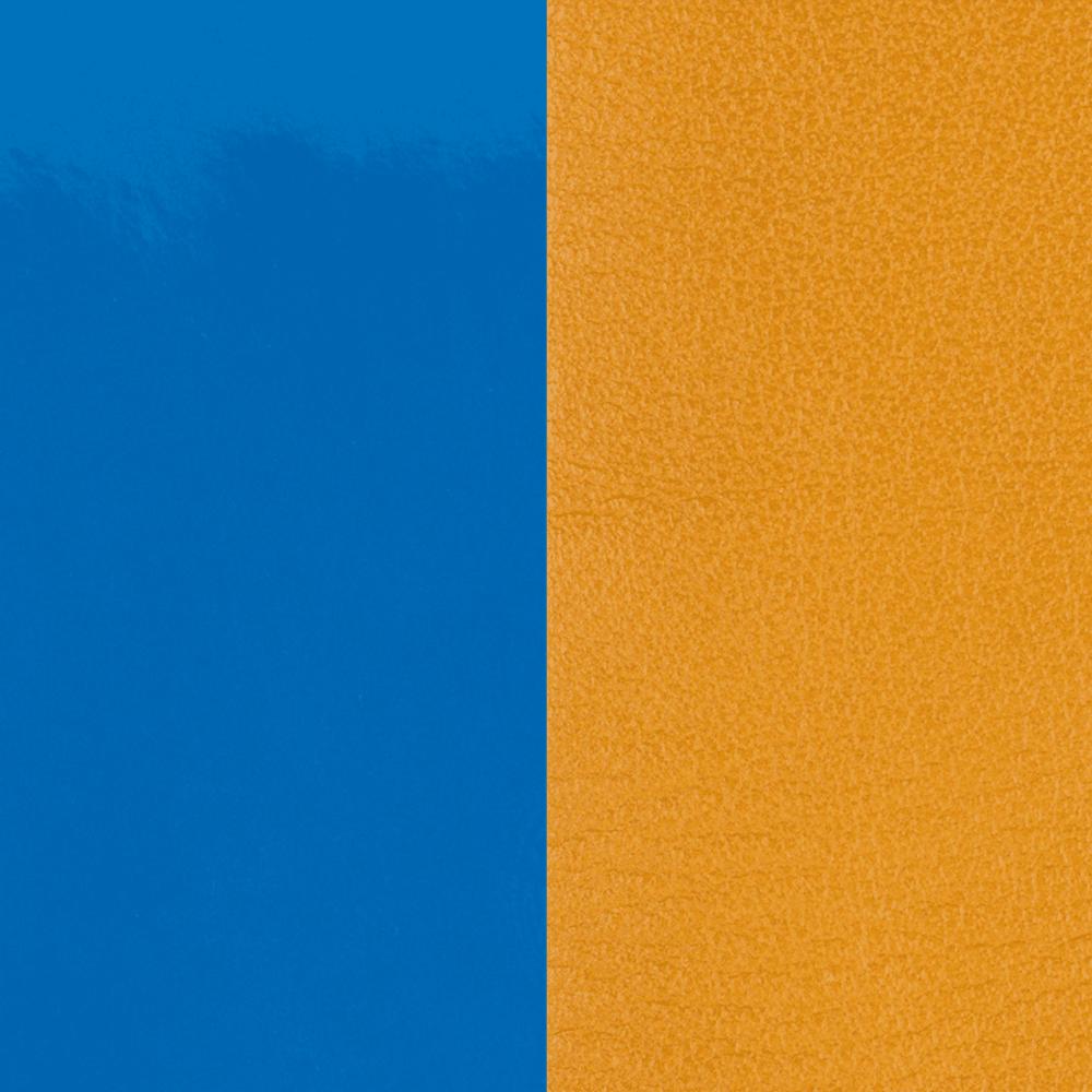 Leather insert Patent Bright Blue / Mustard Yellow