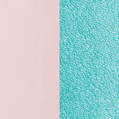 Patent Nude / Metallic Turquoise