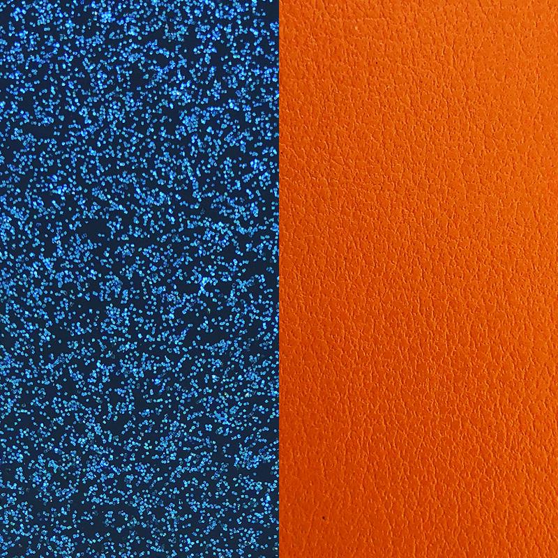 Blue Glitter / Apricot