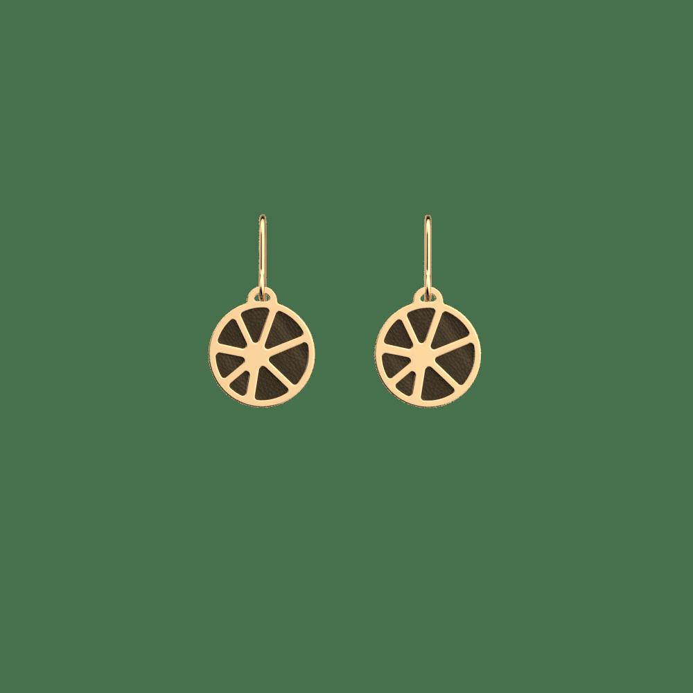 Boucles d'oreilles 16 mm, Solaire, Finition Dorée, Blush / Bronze