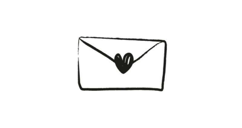 Enveloppe coeur Les Georgettes