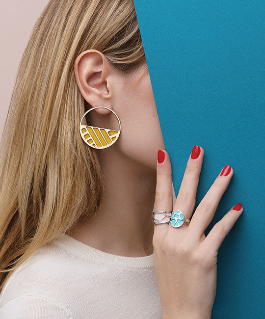 Les Essentielles Earring and rings