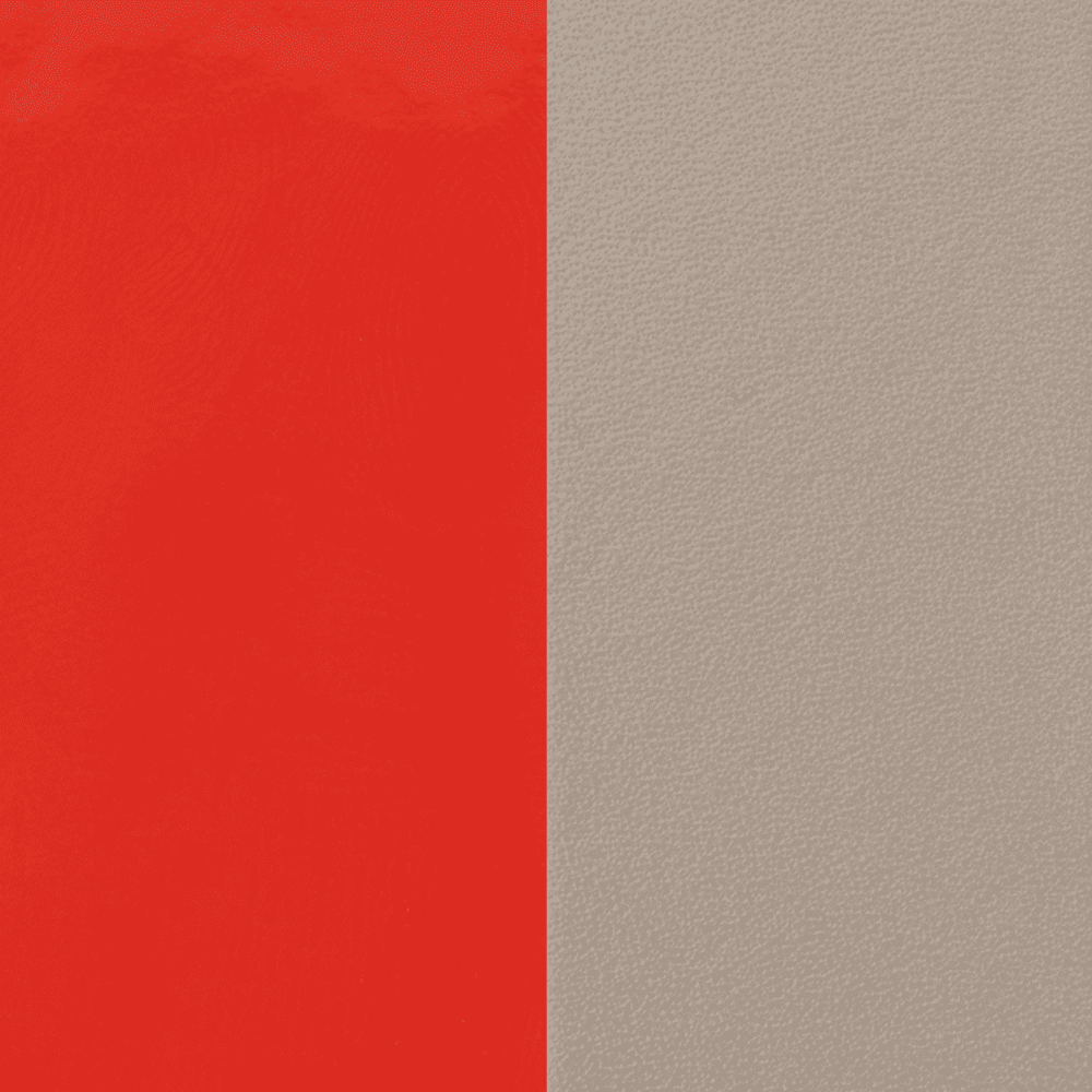 Leather insert Patent Coral / Taupe