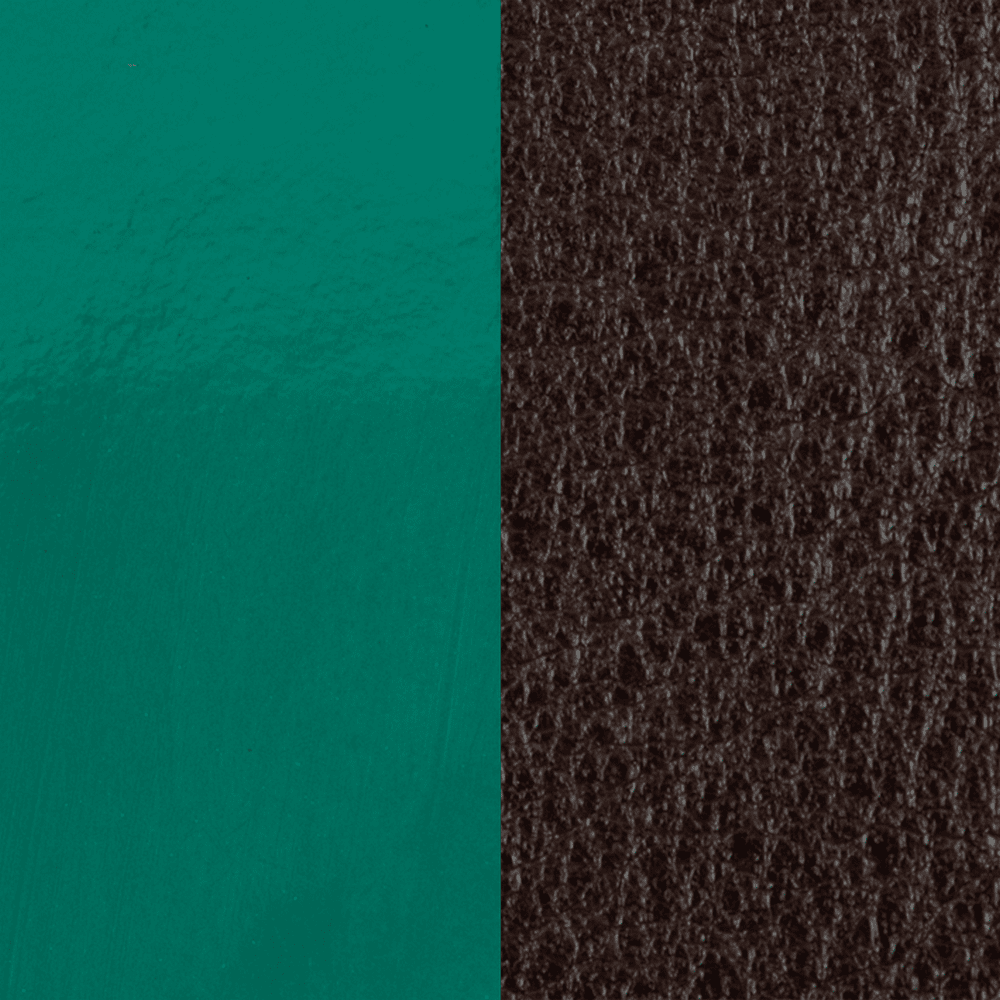 Leather insert Patent Pine Green / Brown