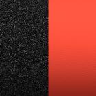 Leather insert - Bracelets & Bags, Black Glitter / Red image number 1