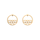 Faucon Hoop 30 mm Earrings, Gold finish image number 1