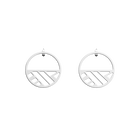 Ruban Small Hoop 30 mm Earrings, Silver finish image number 1