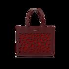 Burgundy Sac à Main Dentelle Bag, Girafe pattern - Grenadine lining image number 1