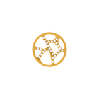 Girafe token Round 16 mm, Gold finish, cubic zirconia image number 1