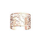 Manchette Fleurs de Mariage 40 mm, Finition dorée rose image number 1