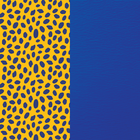 Patterned leather, Cheetah / Royal Blue image number 1