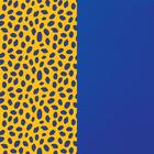 Banda de cuero estampado, Guepardo / Azul Ultramar image number 1