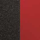 Leather insert, Black Glitter / Red image
