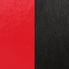 Leather insert, Patent Red / Black image number 1