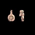 Boucles d'oreilles Dormeuses Solaire, Finition dorée rose, Rouge Orangé / Taupe Soft  image number 4