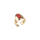 Cabochon Ring, Gold finish image number 1
