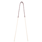 Leather & Chain shoulder strap, Garnet / Gold Metal image number 1
