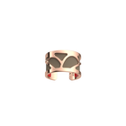 Bague Rosée, Finition dorée rose, Rouge orangé / Taupe Soft image number 2