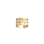 Ibiza Ring, Gold finish, Cream / Gold Glitter image number 2