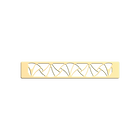 Decorative plaque Papyrus 25 mm, Gold finish image number 1
