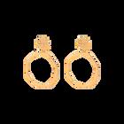 Boucles d'oreilles Nenuphar, Finition Dorée image number 1