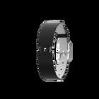 Bracelet Cuir Noir / Blanc, boucle argentée image number 1
