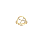 Girafe ring Round 16 mm, Gold finish image number 1