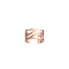 Bague Vibrations 12 mm, Finition dorée rose image number 1
