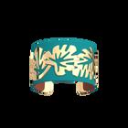 Manchette Monstera, Finition dorée, Terracotta / Bleu Lagon image number 1