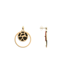 Girafe Double Round 16mm Earrings, Gold finish, Blush / Bronze image number 3