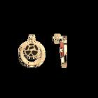 Boucles d'oreilles Double Rond Girafe, Finition dorée, Blush / Bronze image number 3