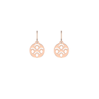 Poisson Sleeper 16 mm Earrings, Rose gold finish image number 1