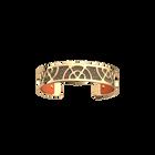 Éventail Bracelet, Gold finish, Multicoloured Glitter / Tangerine image number 1