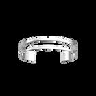 Bracelet Double 14 mm, Finition argentée satinée image number 1