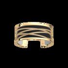 Liens Bracelet, Gold finish, Black / White image number 1