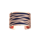 Liens Bracelet, Rose Gold finish, Coral / Metallic Navy Blue image number 2