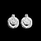 Boucles d'oreilles Fougères, Double Rond 16 mm, Finition argentée image number 1