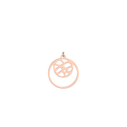 Fougères Pendant Double Round 16mm, Rose gold finish image number 1