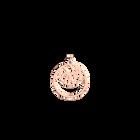 Pendentif Perroquet Double Rond 16 mm, Finition dorée rose image number 1