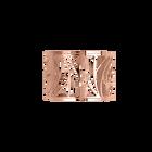 Brazalete Perroquet 40 mm, Acabado dorado rosa image number 1