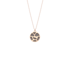 Collier Girafe, Finition dorée rose, Rose Clair / Gris Clair image number 2