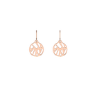 Perroquet Sleeper 16 mm Earrings, Rose gold finish image number 1