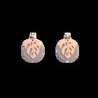 Boucles d'oreilles Les Audacieuses Monstera, Finition dorée rose, Carmin / Coquillage image number 2