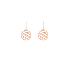 Ruban Sleeper 16 mm Earrings, Rose gold finish image number 1