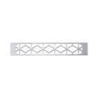 Decorative plaque Résille 25 mm, Silver finish image number 1