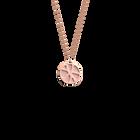 Collier Nénuphar, Finition dorée rose, Rose Clair / Gris Clair image number 1
