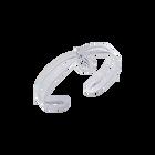 Bracelet Perroquet Ajoure, Finition Argentée image number 1