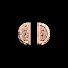Boucles d'oreilles Liens, Demi-lunes 30 mm, Finition dorée rose image number 1