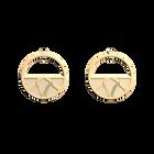Boucles d'oreilles Petites Créoles Hiboux, Finition dorée, Satin Doré / Capucine image number 1
